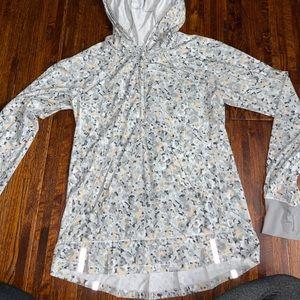 Lululemon half zip floral jacket